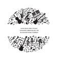 music background with instruments and notes vector image