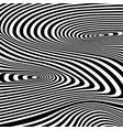 optical black and white design vector image vector image