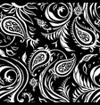 paisley background vintage seamless pattern vector image