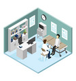 patient in doctors office vector image vector image