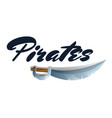 pirates game element with sword vector image vector image