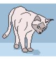 pixel cat background vector image vector image