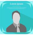 professional profile icon male portrait flat vector image vector image