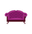 purple sofa isolated icon vector image