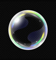 realistic soap bubble isolated vector image vector image