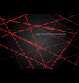 red line light laser cross overlap on dark grey vector image vector image