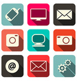 Retro Technology Internet Communication Icons Set vector image vector image