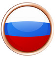 russia flag in round frame vector image vector image