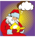 Santa claus reading fairy tales book vector image vector image