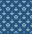 seamless blue marine pattern vector image vector image