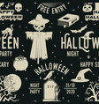 set halloween celebration seamless pattern with vector image