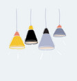 set pendant hanging lamps on white vector image vector image