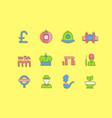 set simple line icons united kingdom vector image vector image