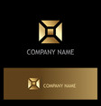square geometry shape gold business logo vector image vector image