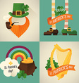St Patricks Icon Set vector image vector image