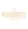 sunset font alphabet vector image vector image