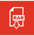 The RAR file icon Archive and compressed symbol vector image vector image