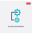 two color setting flow interface icon from vector image vector image