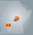 uganda information map vector image