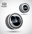 Vinyl with DJ hand icon isolated 3d design elemen vector image