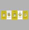 voip calling system onboarding icons set vector image