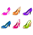 woman shoes vector image vector image