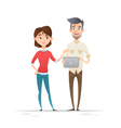Young hipster business characters students vector image vector image