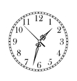 Dainty clock dial face vector image
