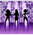 singing girls disco style vector image