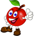 Red apple cartoon vector image