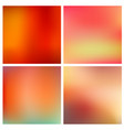 abstract red blurred background set 4 vector image vector image