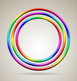 Abstract shiny rainbow colored rings vector image vector image