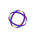abstract technology circle curve color orbit vector image
