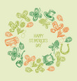 abstract vintage st patricks day background vector image vector image