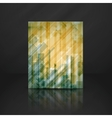 Abstract Yellow Rectangle Shapes Background vector image vector image