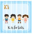 Alphabet K vector image vector image