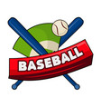 bats with ball and baseball word vector image vector image