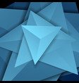 blue abstract tech 3d polygonal shapes concept vector image