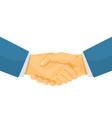 business handshaking vector image vector image
