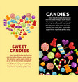 candies sweets and confectionery candy shop vector image