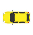 car top view travel above white background road vector image