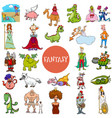 cartoon fantasy and fairy tale characters large vector image