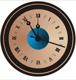 christmas clock vector image vector image