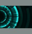 circle digital radar abstract layer background vector image vector image