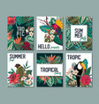collection with six cards notes vector image vector image