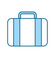 Color blue suitcase cartoon