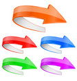colored 3d arrows with white reverse side vector image vector image