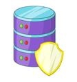 Data server protection icon cartoon style vector image