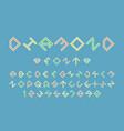 diamond color font alphabet letters vector image