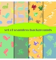 Dinosaurs Set Seamless backgrounds vector image vector image